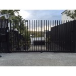 Open-Top Comb Style Swing Driveway Gates