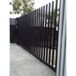 Open-Top Comb Style Swing Driveway Gates (side view)